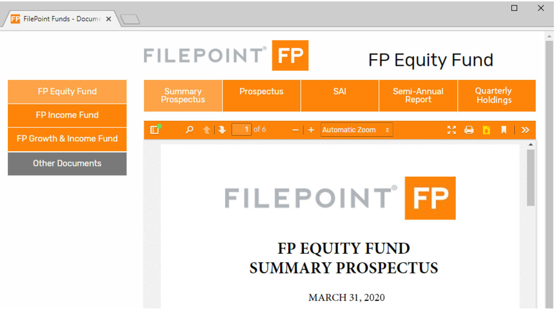 FilePoint FundDocs